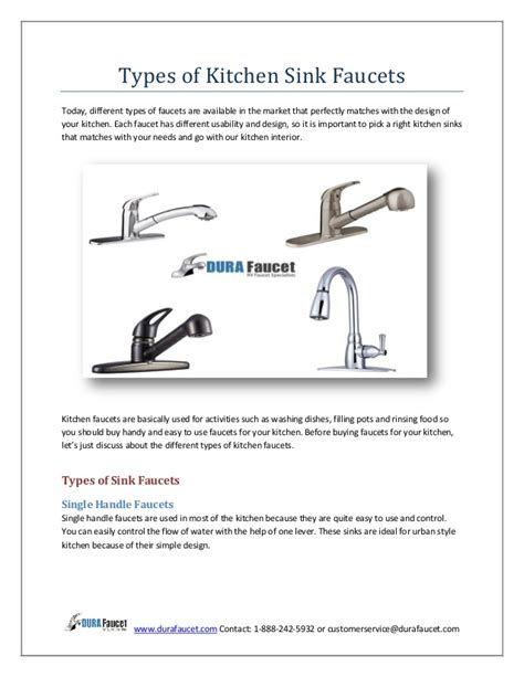 Kitchen Sink Types Uk by Types Of Kitchen Sink Faucets