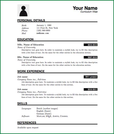Resume Pattern by Pattern Of 3 Resume Format Resume Pdf Basic Resume