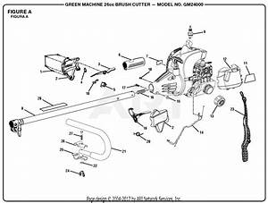 Homelite Gm24000 26cc Brush Cutter Parts Diagram For Figure A