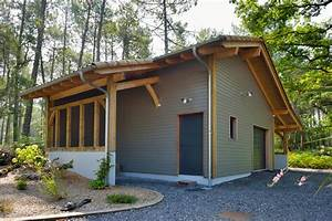 Garage Ossature Bois : garages et abris voiture construction de maisons en bois ~ Melissatoandfro.com Idées de Décoration