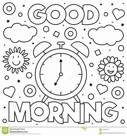 Coloring Vector Morning Illustration