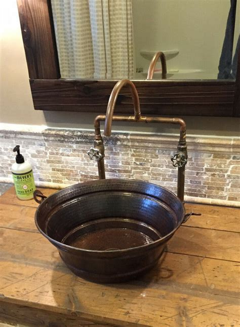 Rustic Sinks Bathroom by 15 Quot Rustic Copper Vessel Bath Sink Your Choice Of