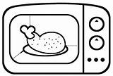 Microwave Coloring Template Sketch sketch template