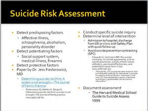 suicide questionnaire Suicide risk assessment: tools & tips •suicide attempt, with injury questionnaire for clients who are not suicidal.
