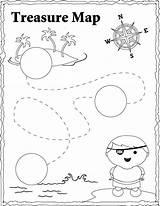 Treasure Pirate Map Coloring Maps Kidsplaycolor Play Craft Pirates Treasures sketch template