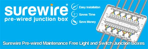 surewire pre wired maintenance free junction box sure wire sw7ml mf sw6s mf sw4l mf