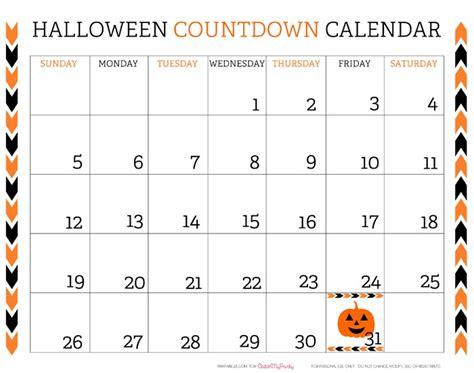 printable halloween countdown calendar catch party