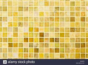 Texture Beautiful Yellow Modern Mosaic Tile On Wall Stock