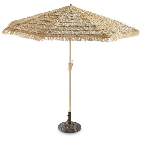 castlecreek 9 thatched tiki umbrella 604871 patio umbrellas