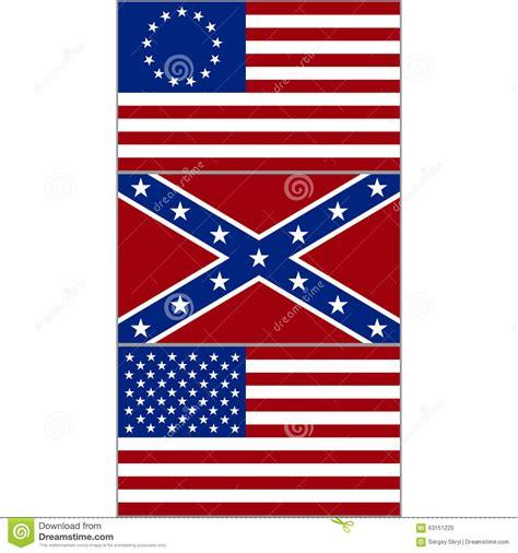 drapeaux des etats unis illustration de vecteur