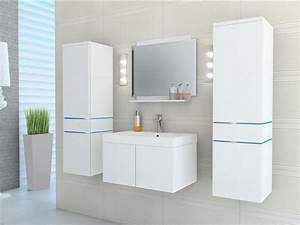 ensemble naomi a leds meubles de salle de bain laque With meuble salle de bain vente flash