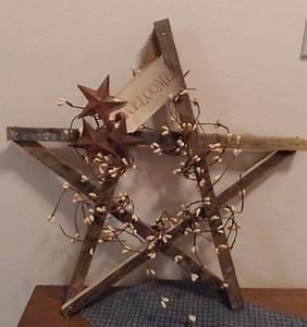 rustic wooden star wreath