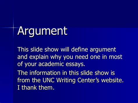 Argument Lesson