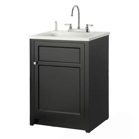 home depot bathroom sink installation foremost conyer 24 in laundry vanity in black and abs