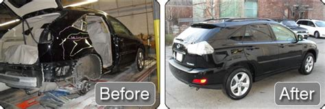 wrecked car before and after auto body repair before after photos tackett 39 s body