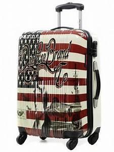 Valise Vintage Pas Cher : valise deeluxe usa flag 60 cm valise rigide 4 roues deeluxe usa flag 60 cm pas cher ~ Teatrodelosmanantiales.com Idées de Décoration