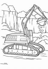 Diggers Colouring Pages Digger Coloring Tractor Searches Recent Digging sketch template