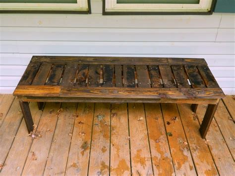 Pallett Bench by White Simple Bench From Pallets Diy Projects