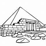 Coloring Pyramid Ruins Great sketch template