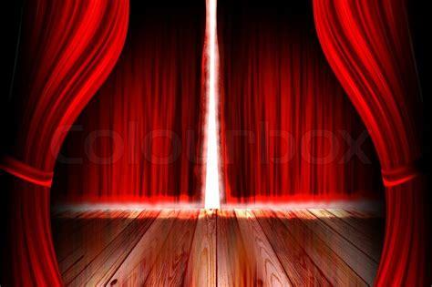 red theaterbuehne mit offenem vorhang stock foto colourbox