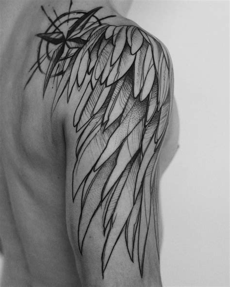 55 best Angel Wing Tattoos images by James Leal on Pinterest | Tattoo wings, Tattoos for men and