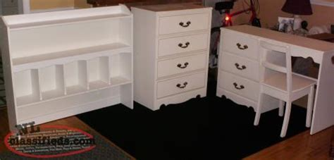 bedroom set with matching desk desk bureau and matching bookcase headboard mt pearl