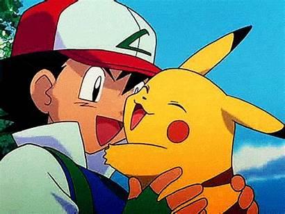 Pikachu Hugging Pokemon Ash Hug Friends Awesome