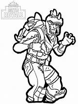 Coloring Fortine Fortnite Rex Royale Battle Play sketch template