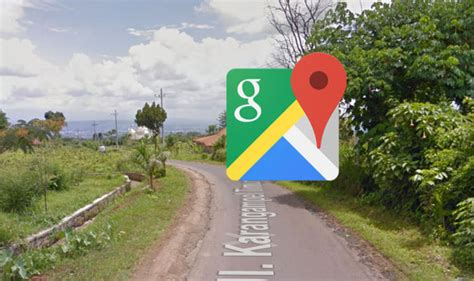 google maps street view captures woman