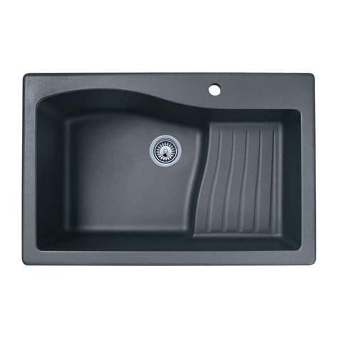shop swan single basin drop in or undermount granite