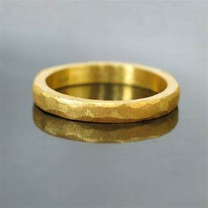 hammered gold wedding band modern gold ring modern wedding With gold ring wedding band