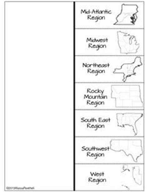 regions of the united states worksheets geography and