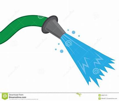 Hose Water Clipart Spray Fire Nozzle Fighting