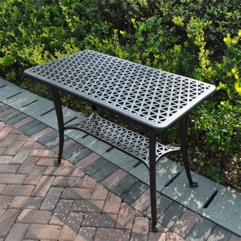 patio side table metal bbq side table with 2 chairs or bench lazy susan