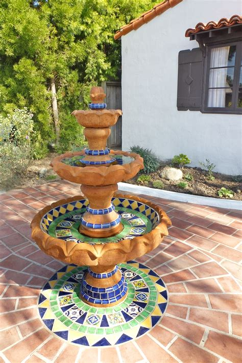 mexican fountains ole hanson historic home fountain design using using mexican tiles by kristiblackdesigns com