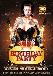 Birthday Party PSD Flyer Template #17626 - Styleflyers