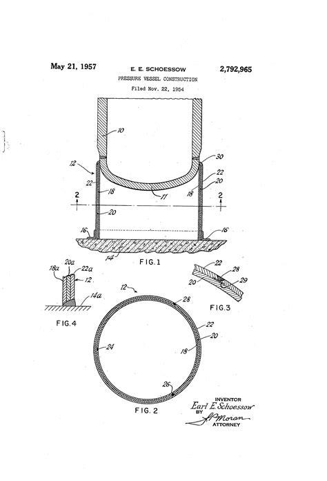 Patent US2792965 - Pressure vessel construction - Google ...