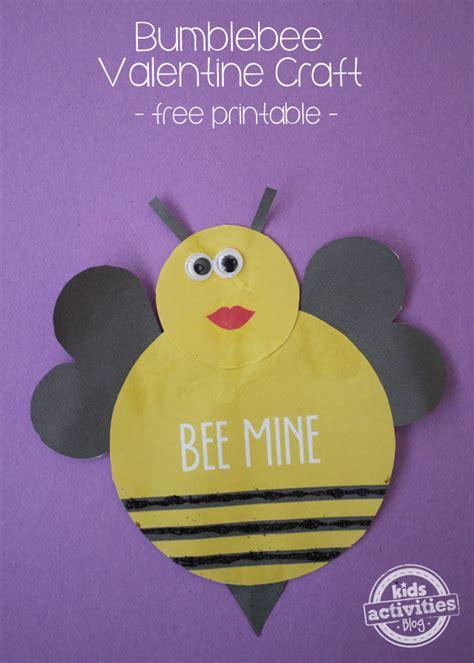 valentine craft printable bee