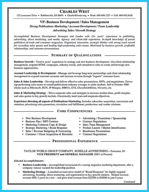 words    business development resume
