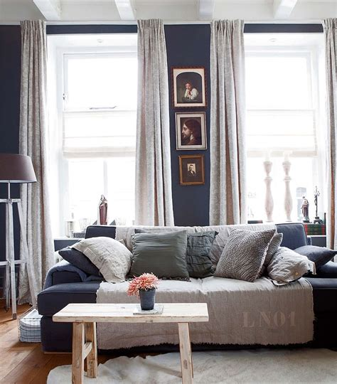 Navy Blue Room Decor - 40 rustic living room ideas to fashion your rev around