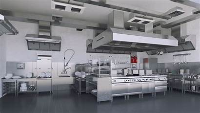 Kitchen Commercial Equipment Equipments Cleaning Cooking Obj
