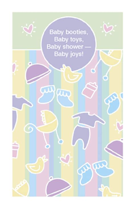 baby joys greeting card baby shower printable card