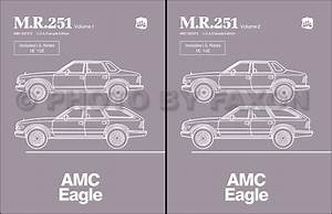 1984 Amc Eagle Repair Shop Manual Original M R 251