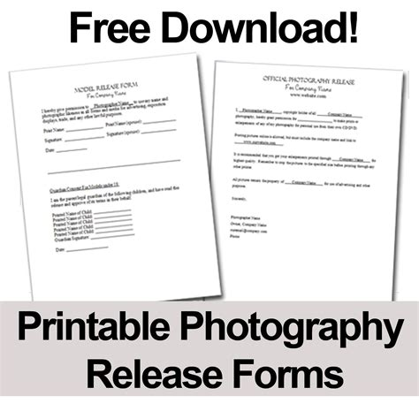 print   photography release forms  give