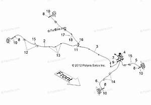 Polaris Side By Side 2012 Oem Parts Diagram For Brakes