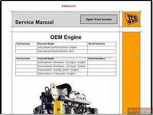 Jcb Service Manuals All Models