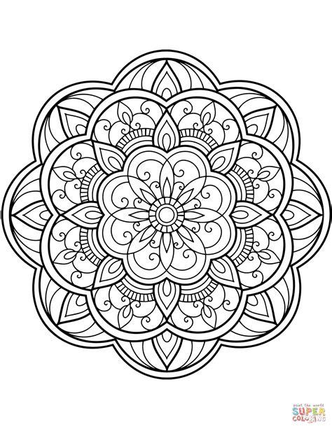 Mandala Kleurplaten by Flower Mandala Coloring Page Free Printable Coloring Pages