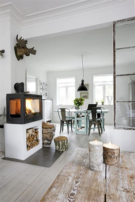 living room white decordots industrial and with lots of repurposed things Industrial