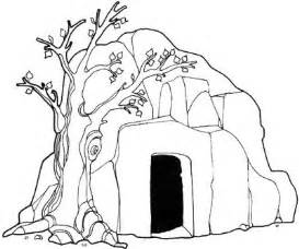 HD wallpapers coloring page of jesus empty tomb