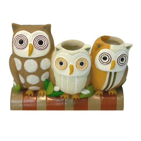Hoot Owl Bathroom Accessories by Owl Hoot Toothbrush Holder